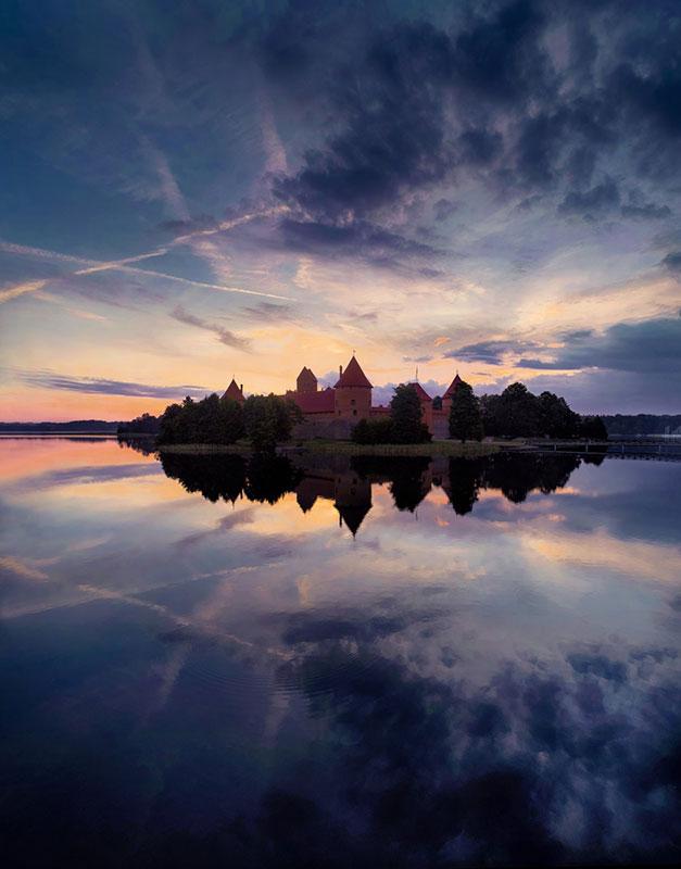Замок Тракай (Литва) - Снято с помощью DJI Phantom 4 Pro