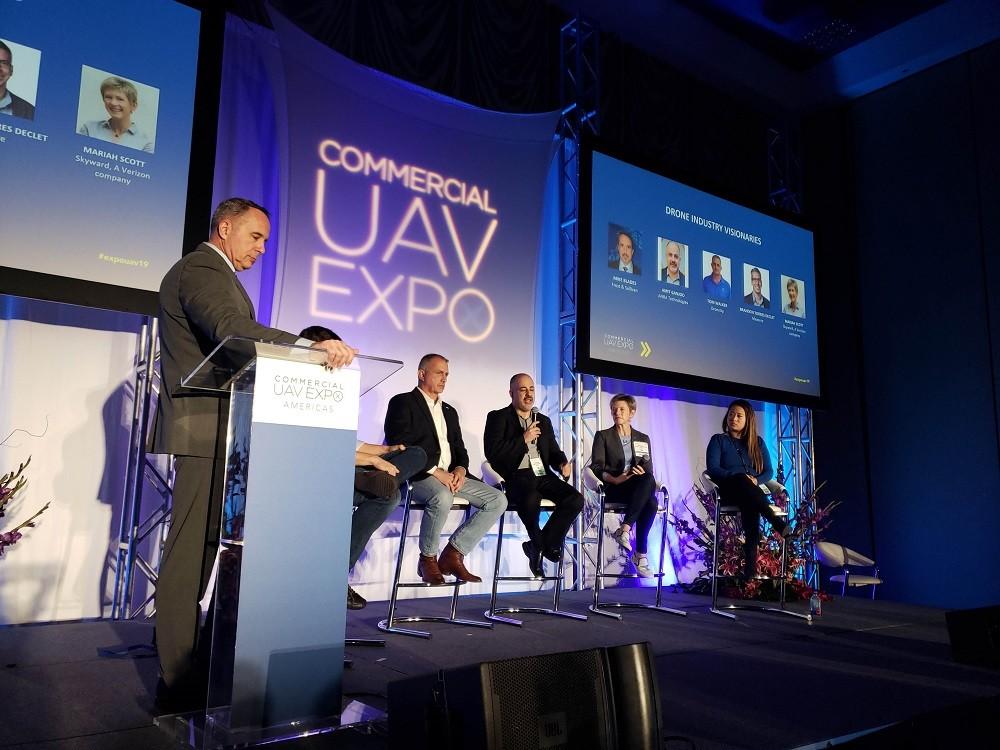 Синтия Хуанг на конференции Commercial UAV Expo Americas 2019