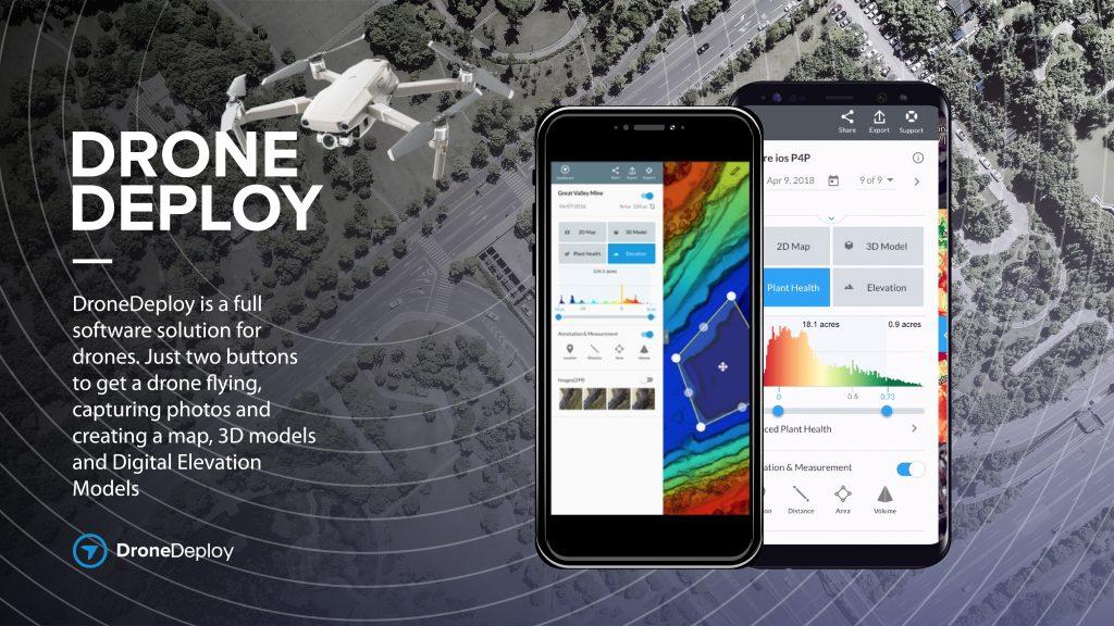 Мобильные решения DroneDeploy - партнера DJI - считаются лучшими среди профессионалов, использующих коммерческие дроны