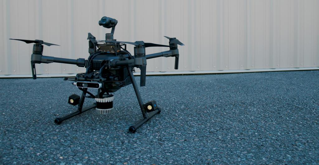 Промышленный дрон серии DJI Matrice 200/210/210 RTK с полезной нагрузкой от AutoModality для подземных работ