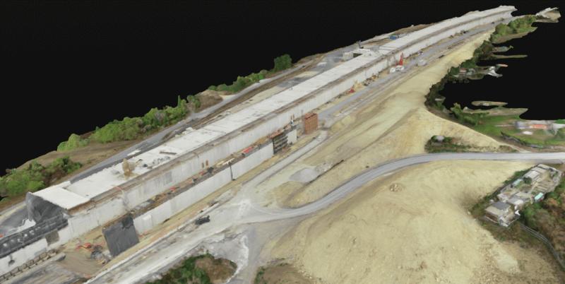 3D-модель объекта компании Strabag, выполненная на основе снимков дрона