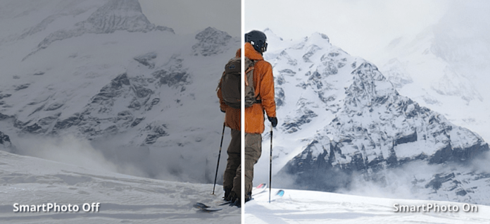 Технология SmartPhoto, встроенная в камеру DJI Mavic Air 2 позволяет улучшить качество и детализацию кадров