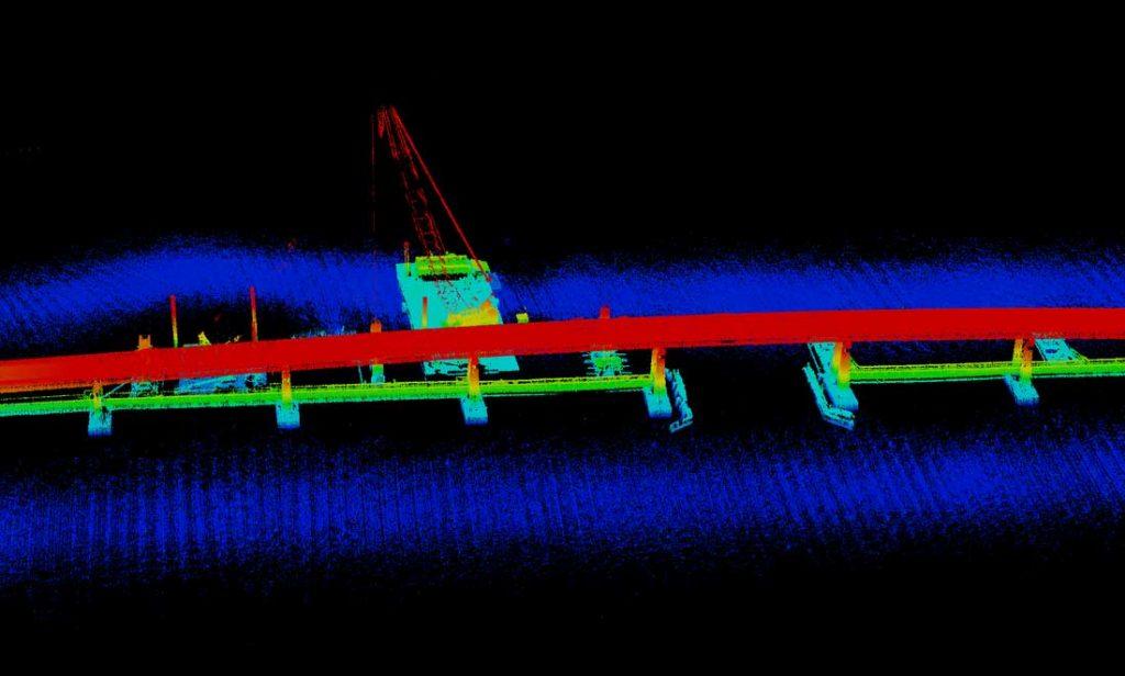 Отображение моста с помощью технологии LIDAR
