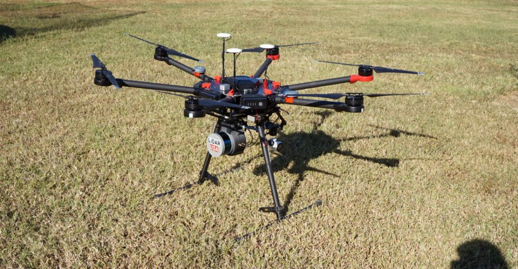 DJI Matrice 600 Pro, оборудованный LIDAR