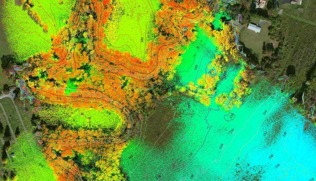 Пример изображения, полученной из облака точек с применением цветовой палитры