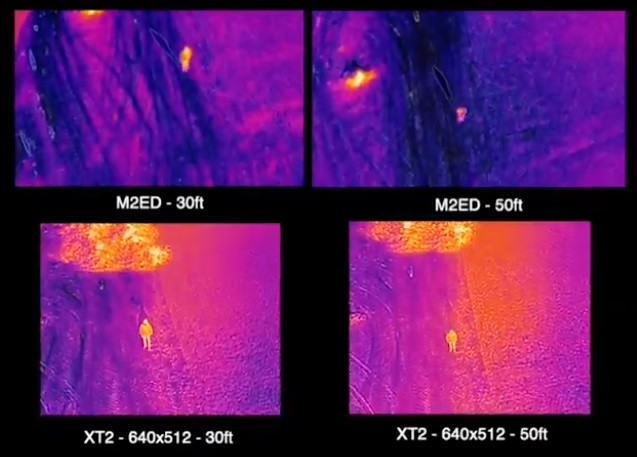 Сравнение результатов съемки двух тепловизионных камер: M2E Dual и XT2