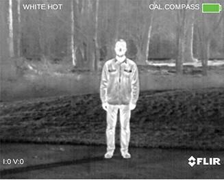 Изображение в палитре White Hot