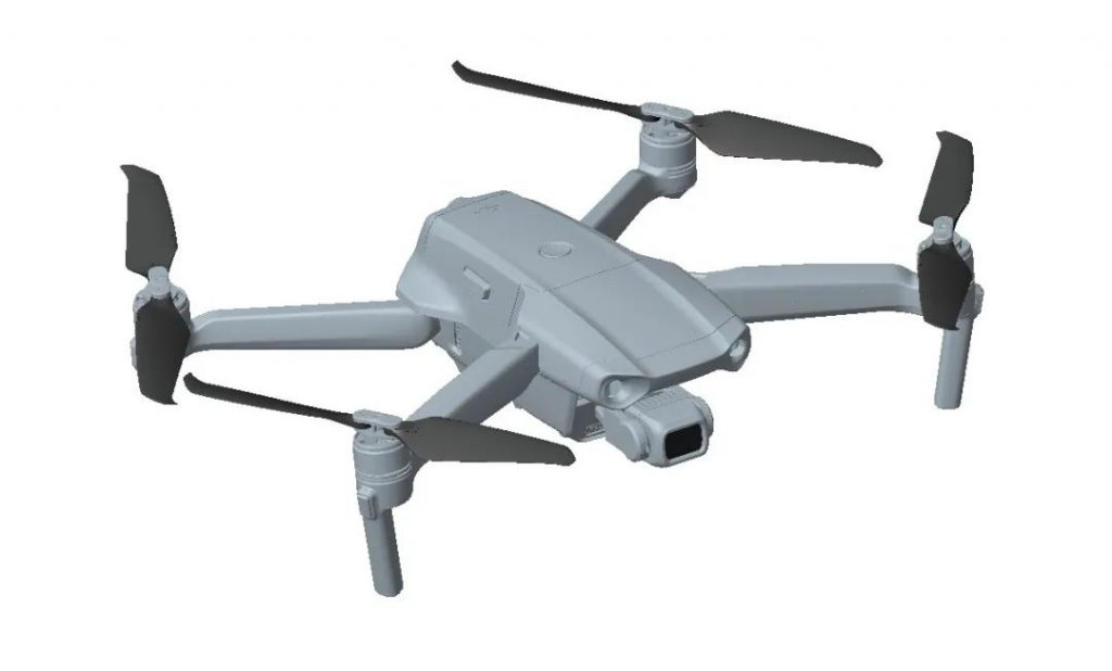 Одна из ранних 3D-моделей DJI Mavic Air 2