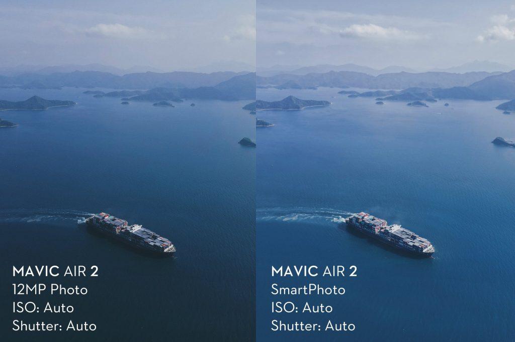 Функция SmartPhoto у DJI Mavic Air 2