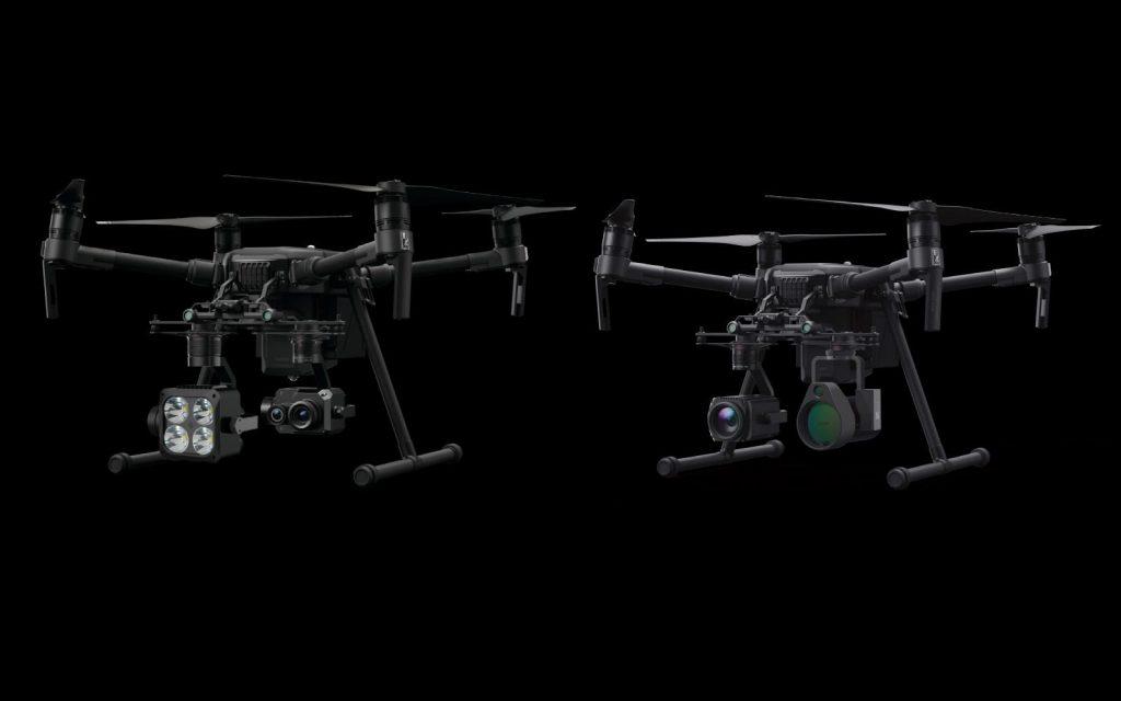 Конфигурация полезной нагрузки дронов DJI, применяющихся для инспекций трубопроводов, зависит от конкретных задач миссии и модели дрона. Например, если необходимо не только составлять карту трубопроводной системы, но и выявлять различные дефекты, пользователи могут установить на дрон визуальные или тепловизионные камеры. Для обнаружения утечек газа можно воспользоваться новейшей системой U10 от DJI (справа на дроне DJI Matrice 210).