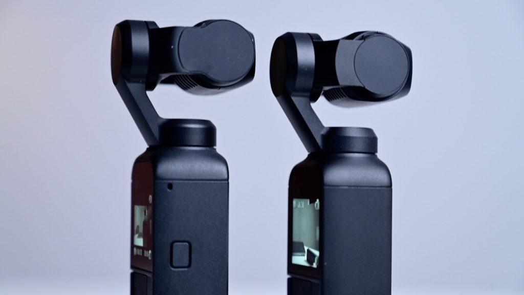 DJI Pocket 2 (слева) и DJI Osmo Pocket. Обратите внимание на кнопку включения питания сбоку у DJI Pocket 2
