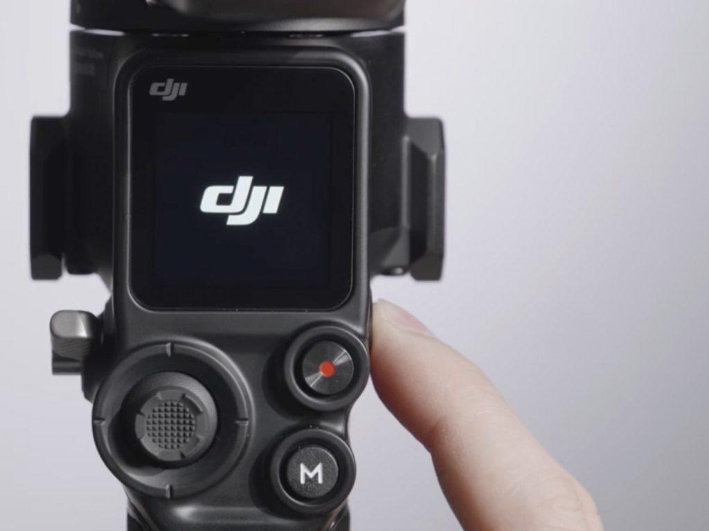 DJI RS 2: 1,4-дюймовый встроенный полноцветный сенсорный экран