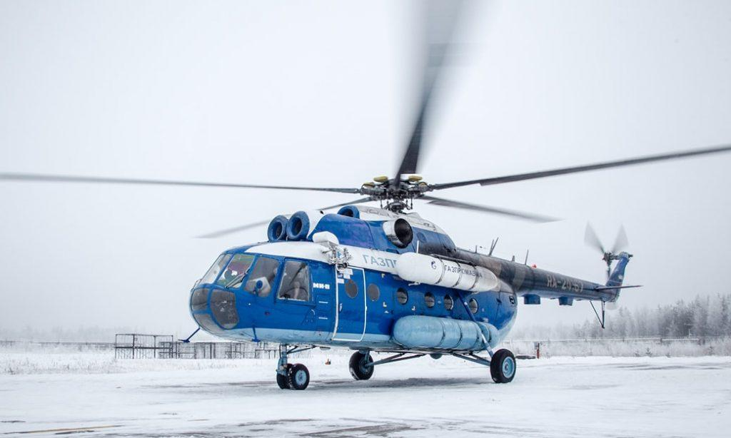 """Вертолет Ми-8 компании """"Газпром"""" с анализатором метана"""