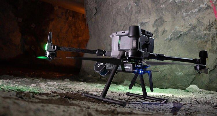 LiDAR - эффективный инструмент для работы геологов, горных инженеров и археологов. Пример установки LiDAR Emesent Hovermap на дроне DJI Matrice 300 RTK