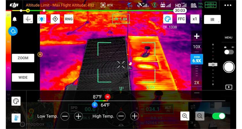 Пример установки температурного сигнала на Zenmuse H20T