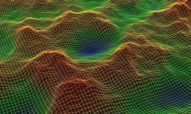 Пример использования трехмерной сетки для моделирования ландшафта