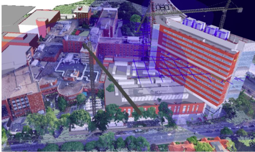 Интерфейс программы от компании Drone-Deploy для обработки снимков с дронов для BIM